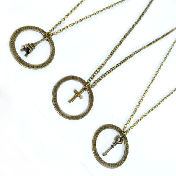 PRAY FOR HUMANTITY CHARM NECKLACE - product image