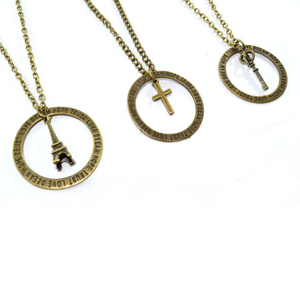 CHARM WITH MESSAGE NECKLACE - product image