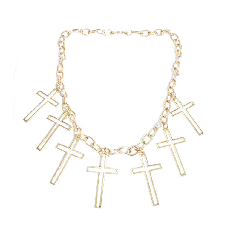 CHAIN WITH MULTI CROSSES NECKLACE - product image