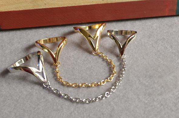 CHAIN WITH DOUBLE RING - product image