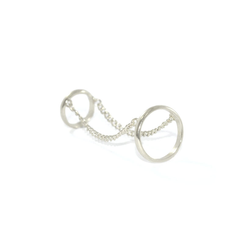 CHAIN LINK DOUBLE FINGER RING - product image