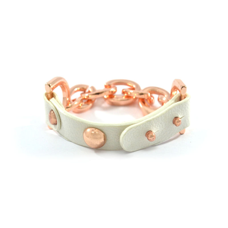 CHAIN AND LEATHER BRACELET - product image