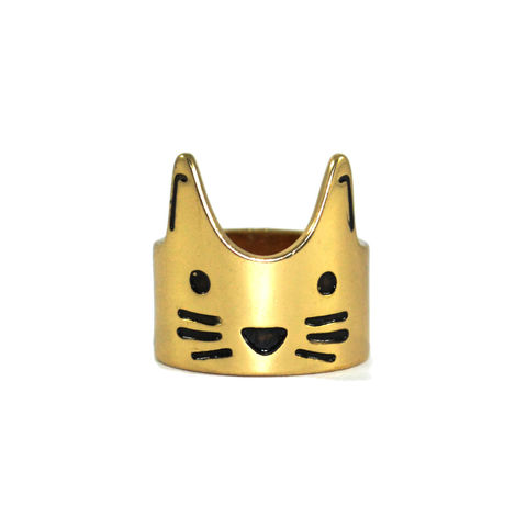 CAT,RING,CAT RING, GOLD CAT RING, MINIMAL CAT RING