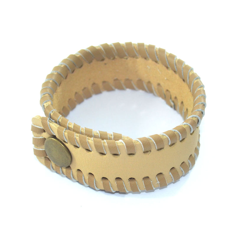 BRAIDED FAUX LEATHER BRACELET - product image