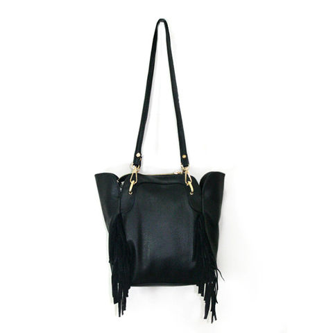 BLACK,TASSELS,BAG