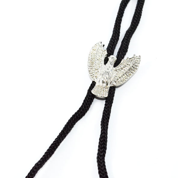 BLACK STRAP WITH EAGLE ADJUSTABLE NECKLACE - product image