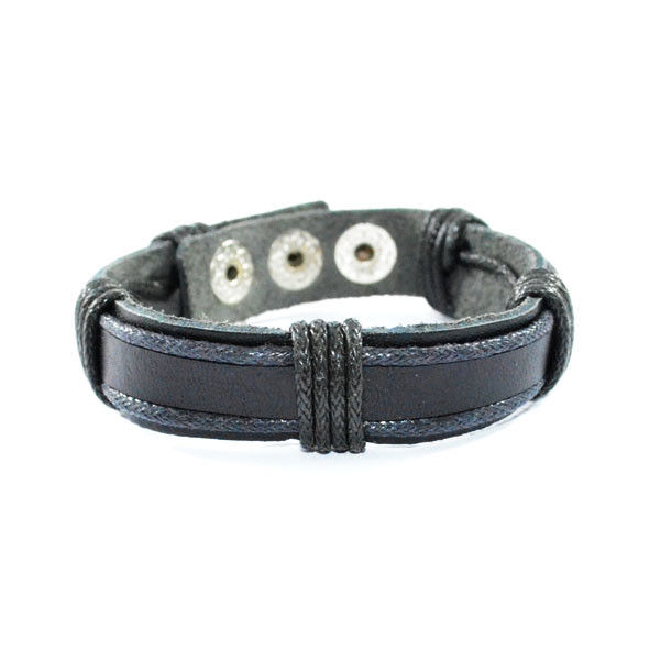 BLACK STRAP ADJUSTABLE BRACELET - product image