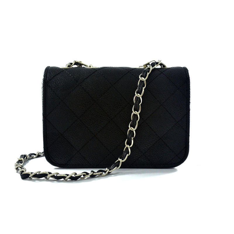 BLACK QUILTED SLING BAG - Rings & Tings | Online fashion store ...