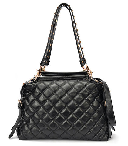 BLACK,QUILTED,BAG