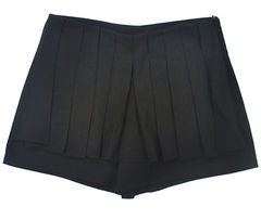 BLACK,PLEATED,SHORTS