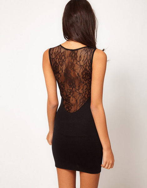 BLACK LACE DRESS - product image