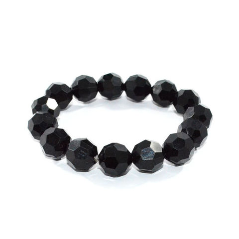 BLACK,CRYSTAL,SHAPE,BRACELET