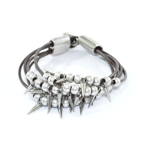 BEADS,AND,SPIKES,MULTI,STRAP,BRACELET