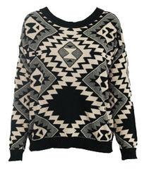 AZTEC,PRINT,JUMPER,Sweaters