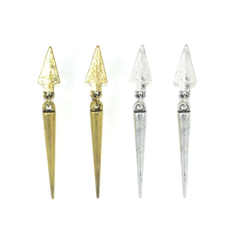 ARROW,SPIKE,DROP,EARRINGS
