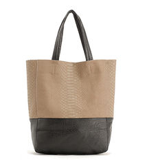 TWO,TONE,SNAKE,PRINT,TOTE,BAG