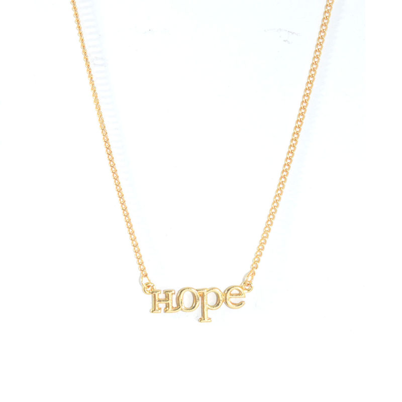 necklace hope gold product in lyst jewelry jewellery dogeared metallic