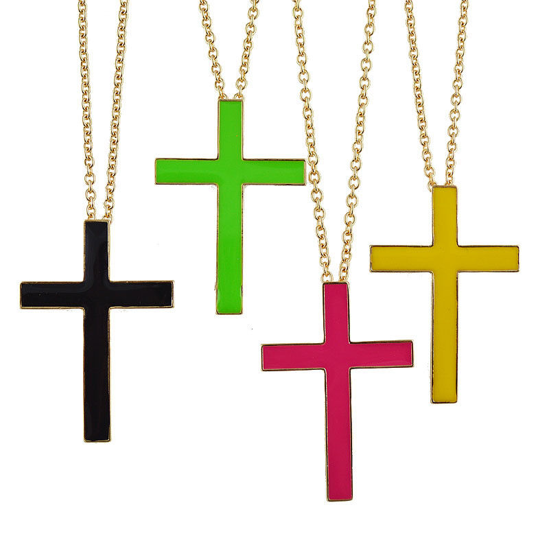 LARGE CROSS NECKLACE - product image
