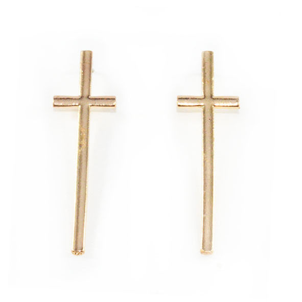 LARGE CROSS EAR STUD - product image
