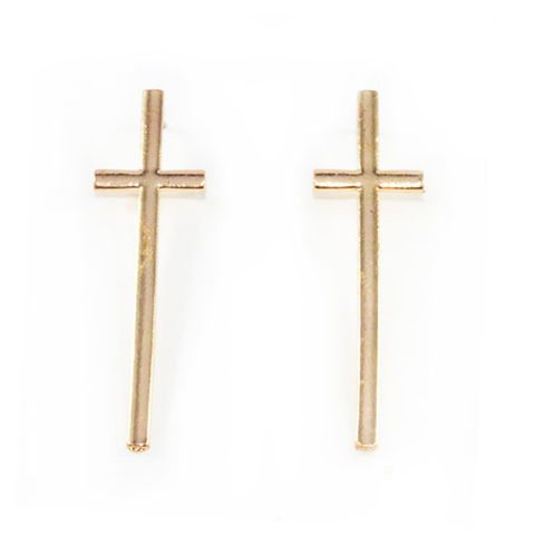 LARGE,CROSS,EAR,STUD