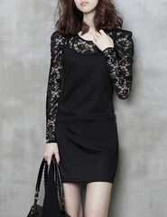LACE,SLEEVE,DRESS