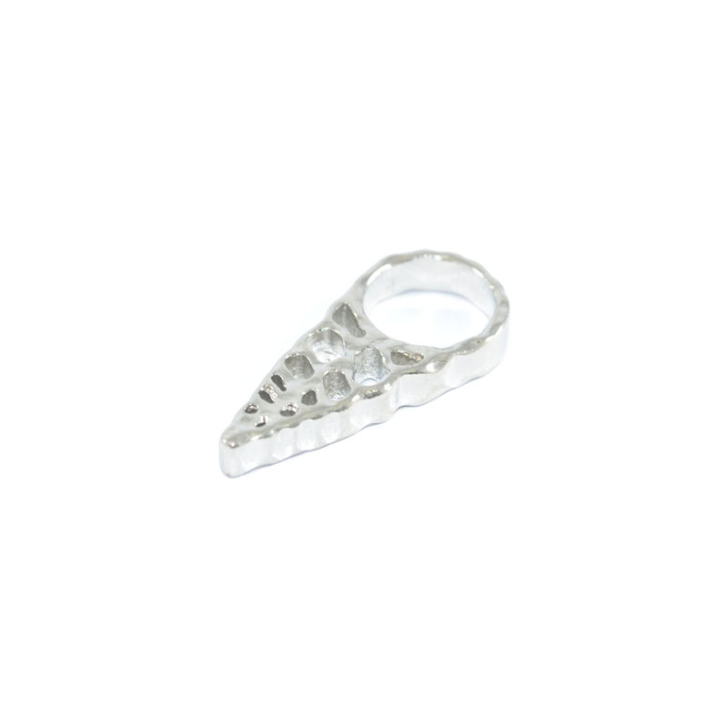 IRREGULAR HOLLOW TRIANGLE RING - product image