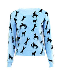 HORSE,PATTERN,JUMPER,Sweaters