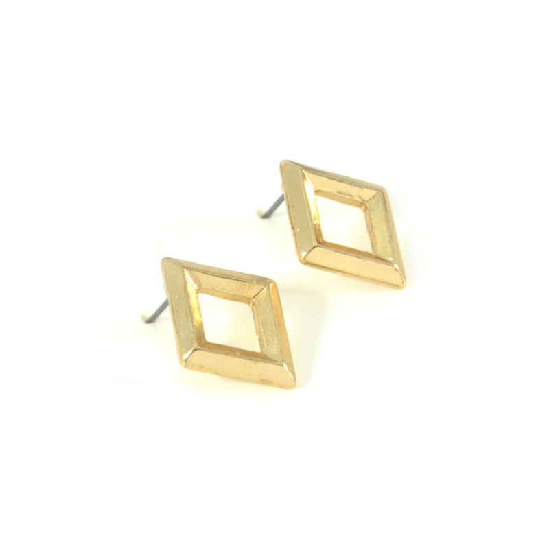 HOLLOW RHOMBUS EARRINGS - product image