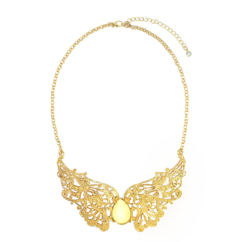 HOLLOW PATTERN FLORAL COLLAR NECKLACE - product image