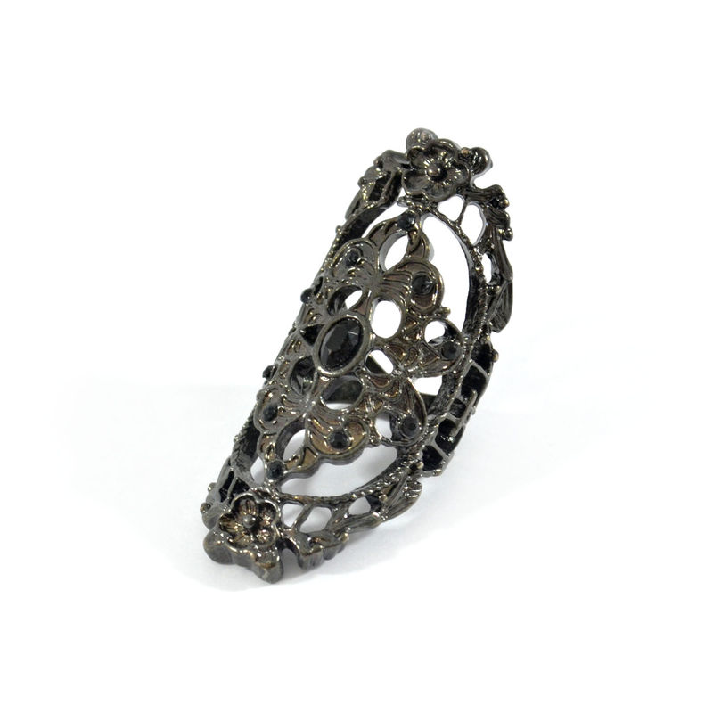 HOLLOW FLOWER PATTERN KNUCKLE RING - product image