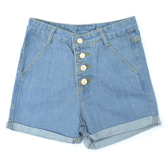 HIGH WAISTED DENIM SHORTS - product image