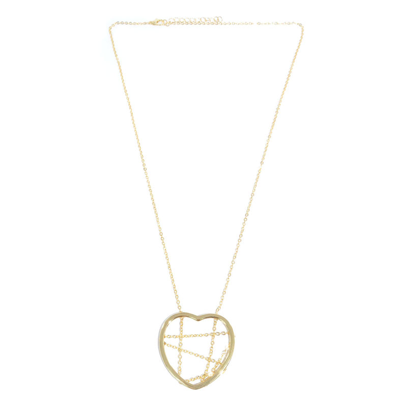 HEART WITH CHAIN PENDANT NECKLACE - product image