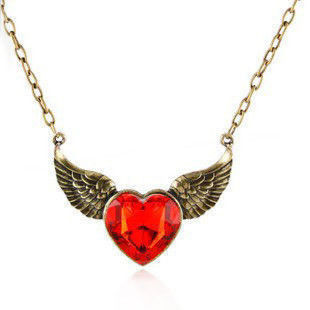 HEART,WING,NECKLACE