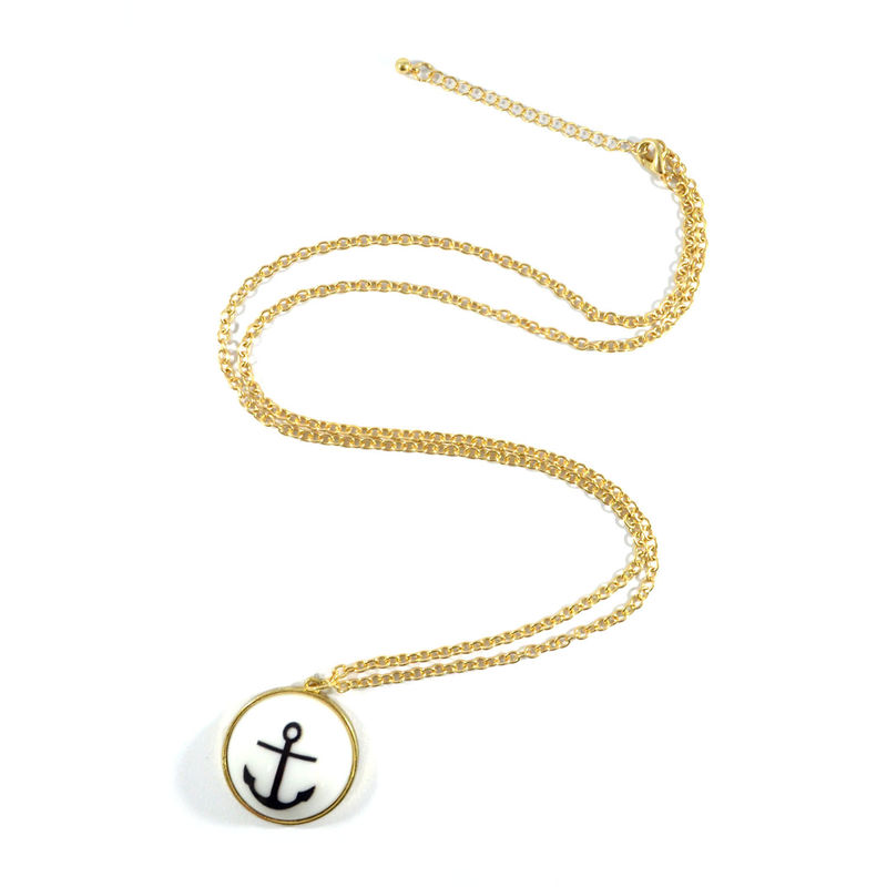 HALF SPHERE PENDANT NECKLACE - product image