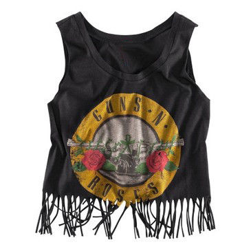 GUNS AND ROSES FRINGE TOP - product image