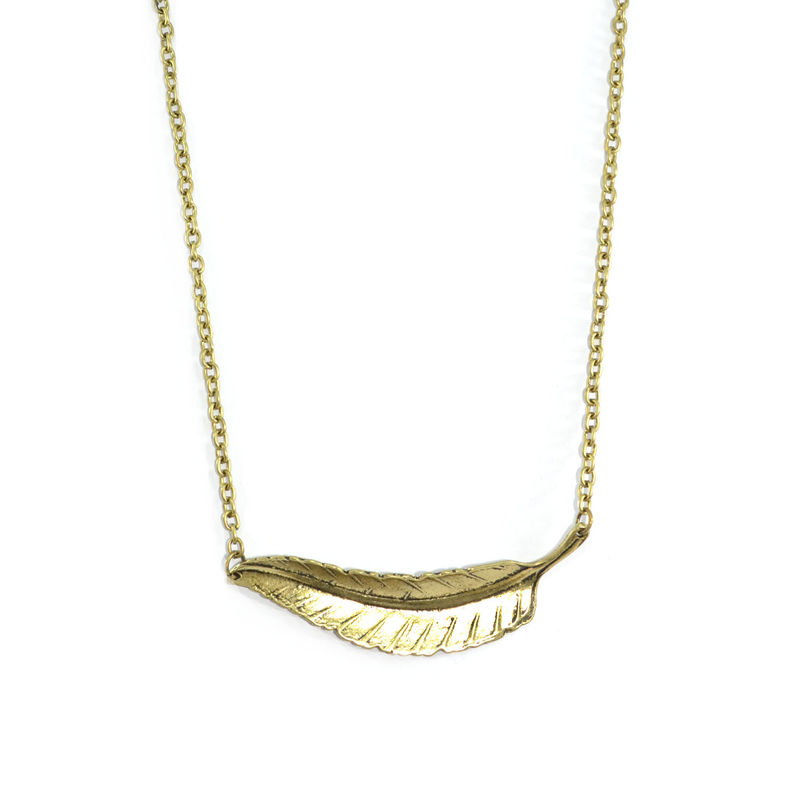 GOLDEN LEAF NECKLACE - product image