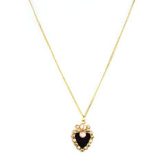 GOLD,TONE,WITH,CRYSTALS,HEART,PENDANT