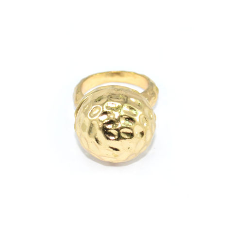 GOLD,TONE,SPHERE,RING