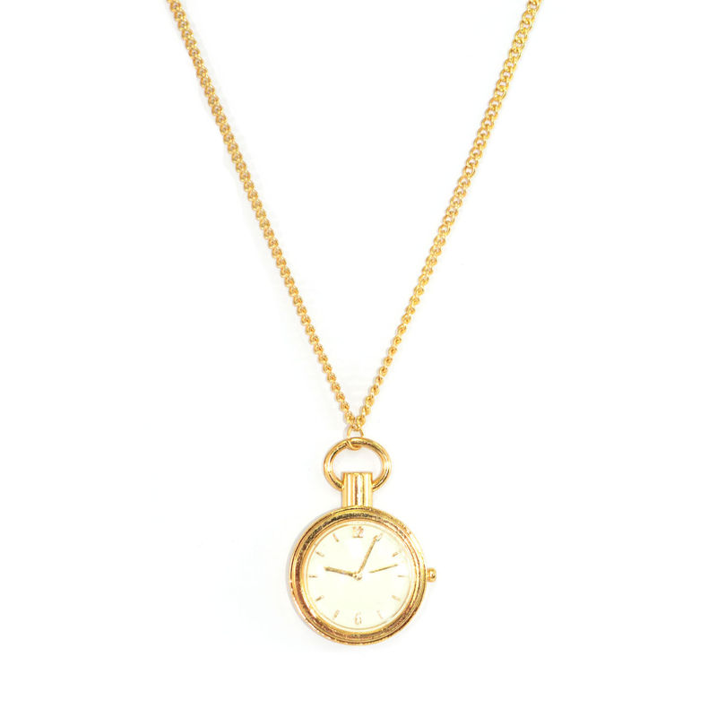 by i white jacobs marc silver tradesy necklace clock and
