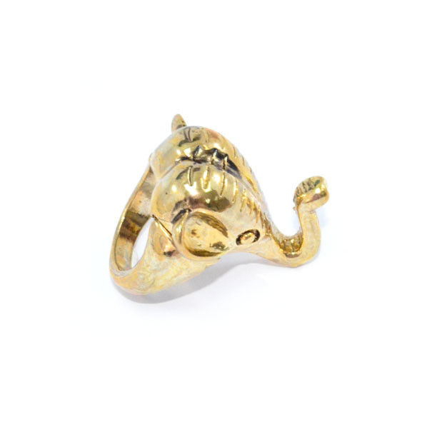 GOLD TONE ELEPHANT RING - product image