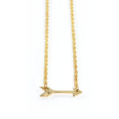 GOLD,TONE,ARROW,NECKLACE