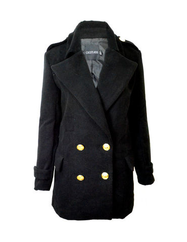 GOLD,BUTTON,PEA,COAT