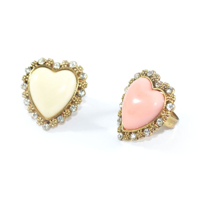 GEM HEART RING WITH CRYSTAL  - product image