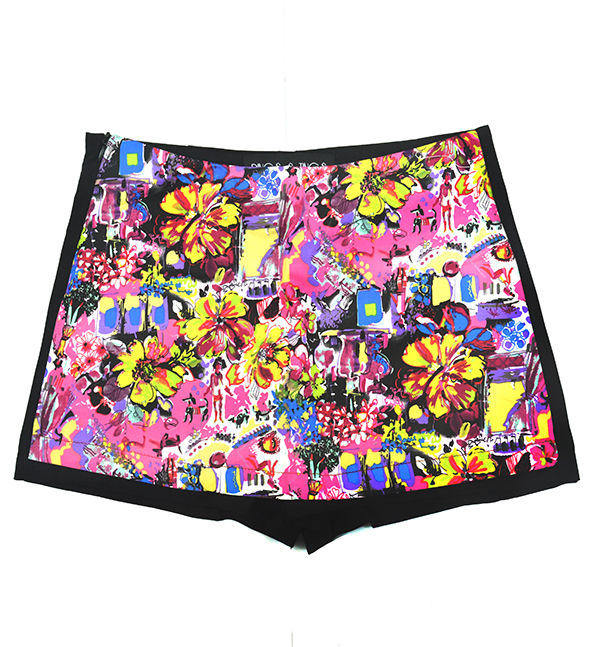 FRONT PANEL FLORAL SHORTS - product image