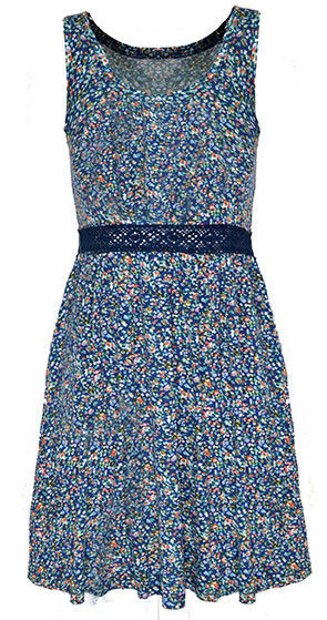 FLORAL WAIST DITSY DRESS - product image