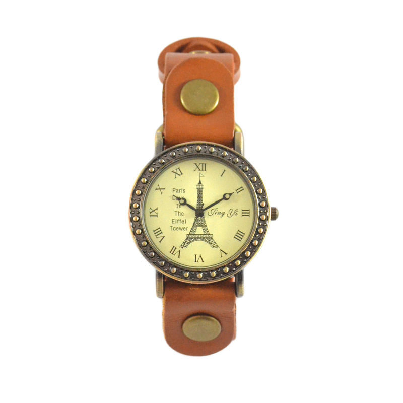 FAUX LEATHER STUD EDGE EIFFEL TOWER WATCH - product image