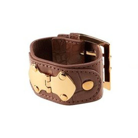 FAUX,LEATHER,METAL,DECOR,BRACELET