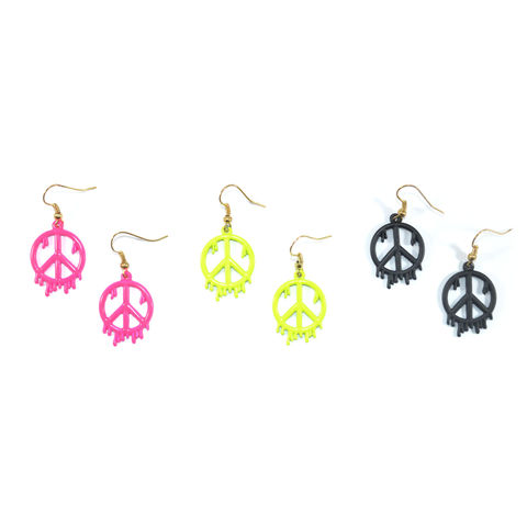 DRIPPING,PEACE,DROP,EARRINGS