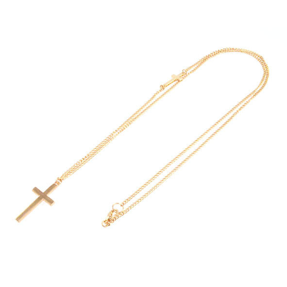 DOUBLE CROSS LONG NECKLACE - product images  of