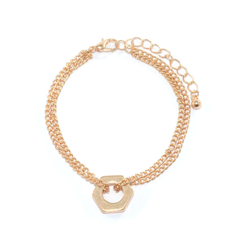 DOUBLE CHAIN NUT BRACELET - product image
